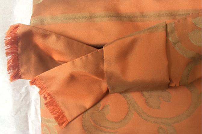Tasche aus Samt + Seide