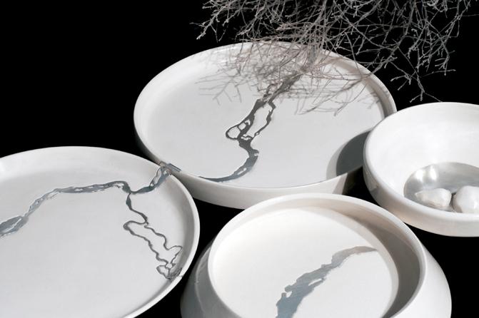 """""""Water of Siberia"""" ceramic tableware"""