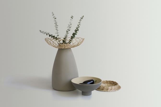 """""""Rustica Subtilis"""" vase/bowl combination"""