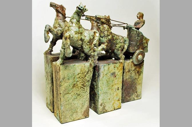 Raku Keramik Phaeton, Foto: Peter Wichmann