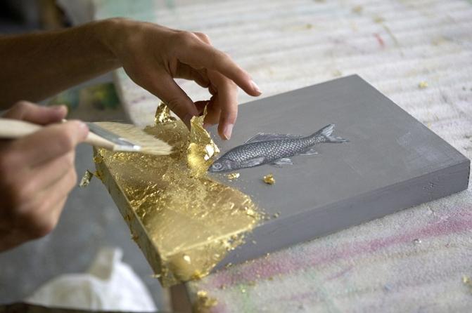 Bildvergoldung, Foto: Therese Aufschlager