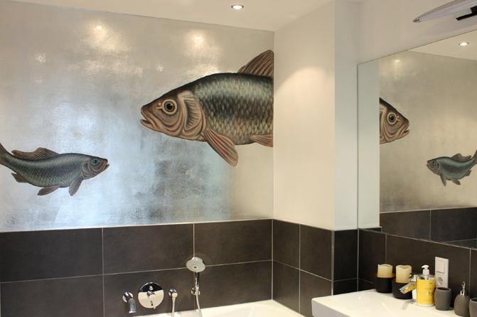 """Bild auf Holz """"Goldfisch"""", Foto: Julien Collieux"""