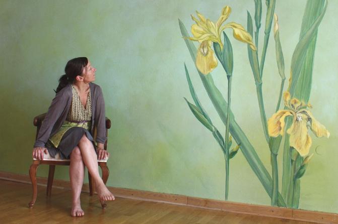 """Wandgestaltung """"Wasserlilie"""", Foto: Julien Collieux"""