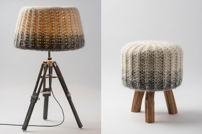 Tischlampe, Hocker, Fotos: Lucie Eisenmann