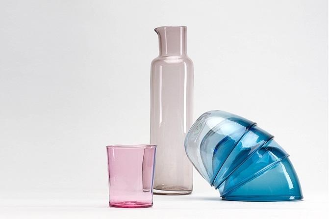Karina Wendt, Karaffe, Wasserglas und Schalen, Foto: Michel Klehm